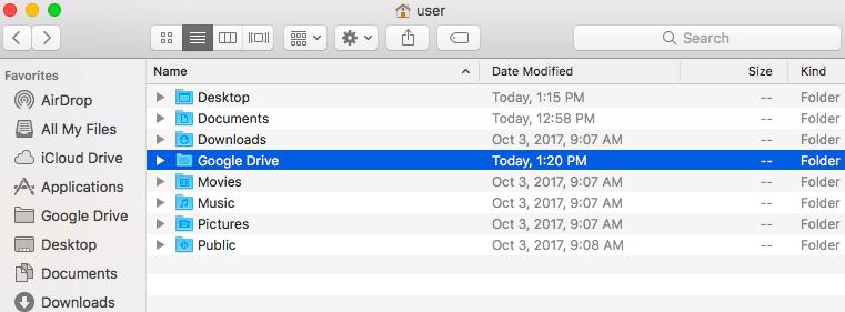 google drive file stream