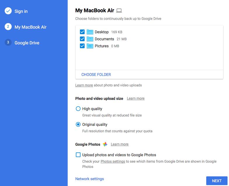 Google Backup & Sync |