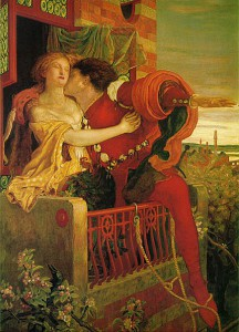 A painting of Romeo and Juliet by Dante Gabriel Rossetti